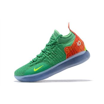 Nike KD 11 Green Orange Yellow Mens Basketball Shoes
