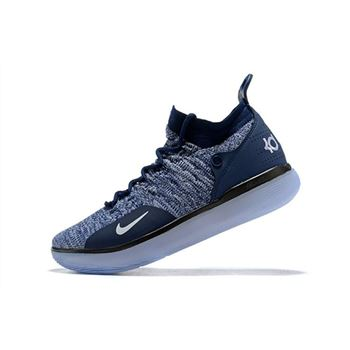 Nike KD 11 Navy Blue White Mens Basketball Shoes
