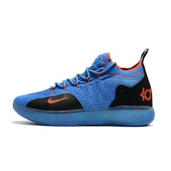 Nike KD 11 Royal Blue Black Orange Mens Basketball Shoes