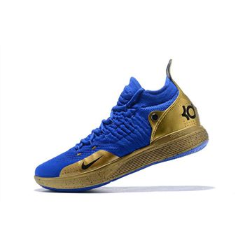 Nike KD 11 Royal Blue Metallic Gold