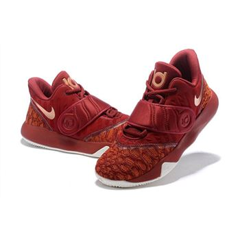 Nike KD Trey 5 VI Bordeaux Metallic Gold White Mens Basketball Shoes