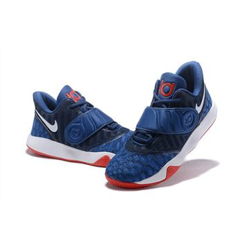 Nike KD Trey 5 VI Navy Blue/White-Red Men's Basketball Shoes