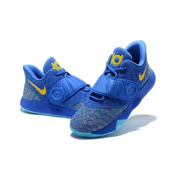 Nike KD Trey 5 VI Signal Blue Yellow Mens Basketball Shoes