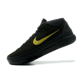 Nike Kobe A.D. Mid Black/Metallic Gold Men's Basketball Shoes For Sale