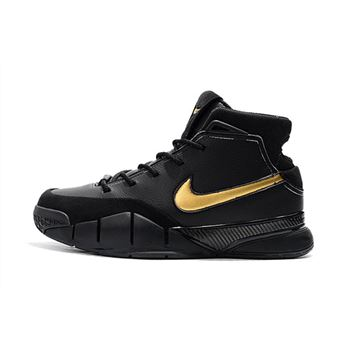 Nike Zoom Kobe 1 Protro Mamba Day Black White Metallic Gold