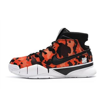 Undefeated x Nike Zoom Kobe 1 Protro Red Camo Mens Shoes