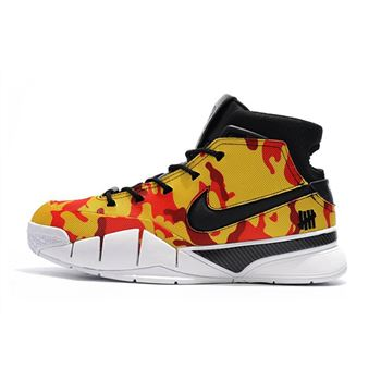 Undefeated x Nike Zoom Kobe 1 Protro Yellow Camo Mens Shoes