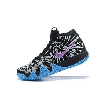 All Star Nike Kyrie 4 Tie Dye Black White Basketball Shoes