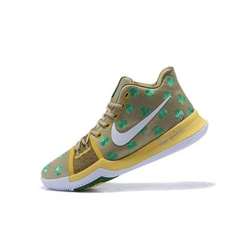 Boston Celtics Nike Kyrie 3 Luck PE Mens Basketball Shoes