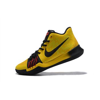 Bruce Lee Nike Kyrie 3 Mamba Mentality Tour Yellow/Black Basketball Shoes AJ1692-700