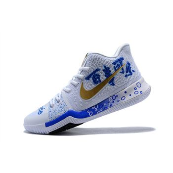 Custom Nike Kyrie 3 Coca Cola Mens Basketball Shoes