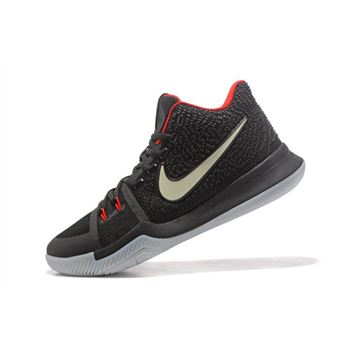 Glow in the Dark Nike Kyrie 3 Black Red Mens Basketball Shoes