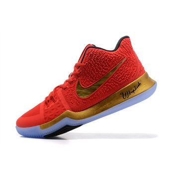 Kyrie Irving Nike Kyrie 3 Red Metallic Gold Black Basketball Shoes Hot Sale