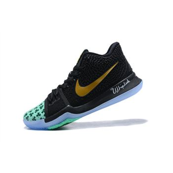Kyrie Irving's Shamrock Nike Kyrie 3 PE Basketball Shoes For Sale