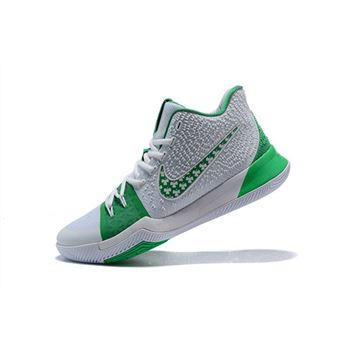 Mens Nike Kyrie 3 Green White Basketball Shoes