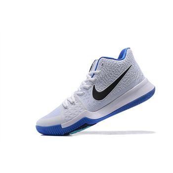 Men's Nike Kyrie 3 Hyper Cobalt White/Chlorine Blue-Volt 852395-102