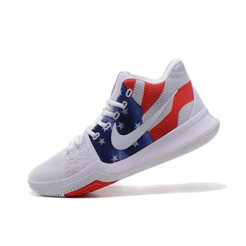 Mens Nike Kyrie 3 Stars And Stripes Basketball Shoes