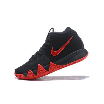 Mens Nike Kyrie 4 Black Red Mens Size Basketball Shoes
