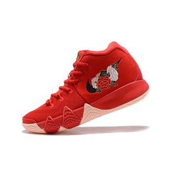 Mens Nike Kyrie 4 CNY University Red Black Team Red Basketball Shoes