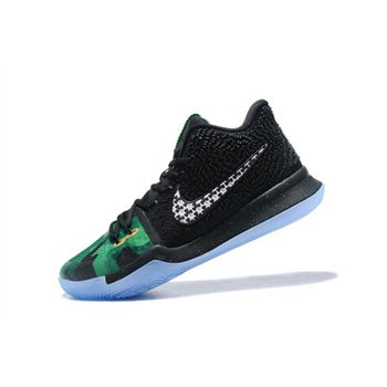 New Nike Kyrie 3 Halloween Black Green White Mens Basketball Shoes