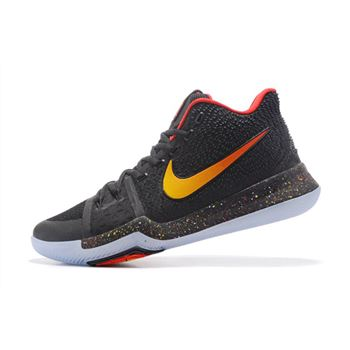 Nike Kyrie 3 Black Red Gold Mens Basketball Shoes