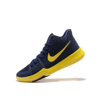 Nike Kyrie 3 Cavs Dark Obsidian Yellow Mens Basketball Shoes