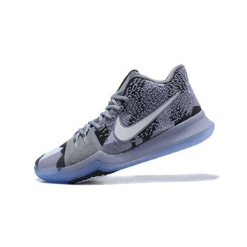 Men's Nike Kyrie 3 Girls EYBL Cool Grey/Sail-Black Basketball Shoes
