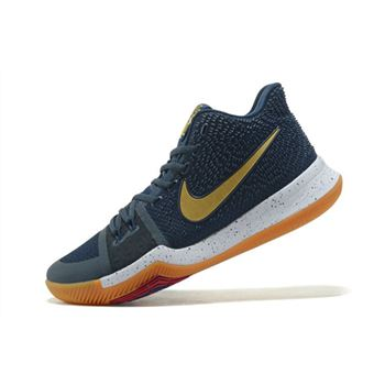 Nike Kyrie 3 Dark Obsidian Metallic Gold White Mens Basketball Shoes