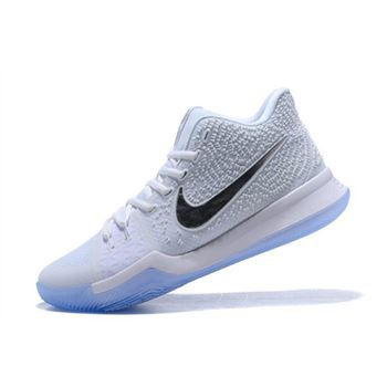 Nike Kyrie 3 White Chrome Basketball Shoes 852395-103