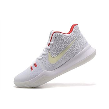 Nike Kyrie 3 White Red Glow in the Dark Mens Basketball Shoes