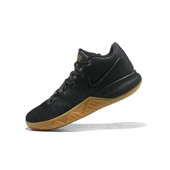 Mens Nike Kyrie Flytrap Black Gum Metallic Gold Free Shipping