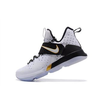 Mens Nike LeBron 14 BHM White Metallic Gold Black