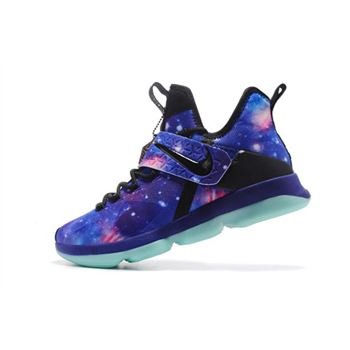 Mens Nike LeBron 14 Galaxy Basketball Shoes