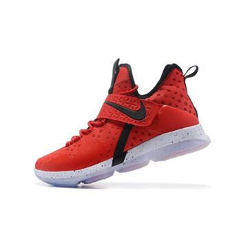 Mens Nike LeBron 14 Red Brick Road University Red Black White