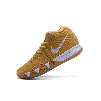 Nike Kyrie 4 Cinnamon Toast Crunch Metallic Gold Coin White