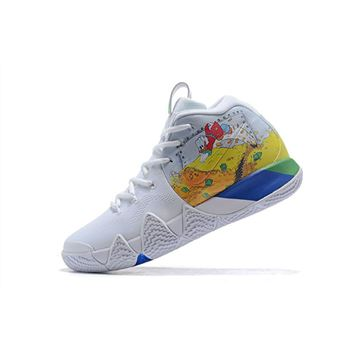 Nike Kyrie 4 Donald Duck White Yellow For Sale