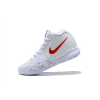 Nike Kyrie 4 Half Heart White Red Basketball Shoes