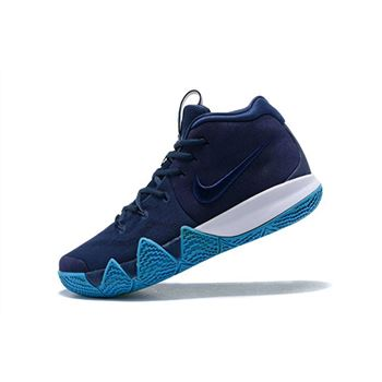 Nike Kyrie 4 Obsidian Dark Obsidian Black Basketball Shoes