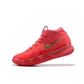 Nike Kyrie 4 Red Carpet Red Orbit Metallic Gold