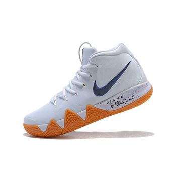Nike Kyrie 4 Uncle Drew White Gum Mens Basketball Shoes