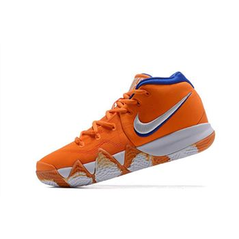 Nike Kyrie 4 Wheaties Bright Orange/White-Blue For Sale