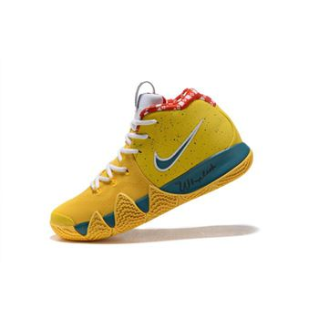 Nike Kyrie 4 Yellow Lobster PE Mens Basketball Shoes