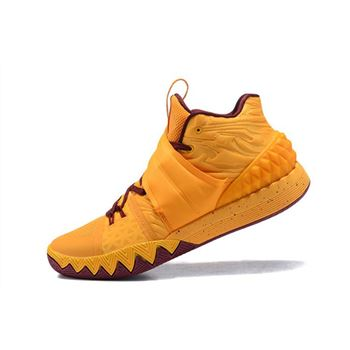 Nike Kyrie S1 Hybrid Cavs Yellow Wine Red Basketball Shoes