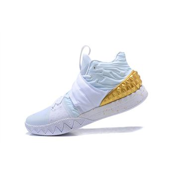 Nike Kyrie S1 White Metallic Gold Mens Size