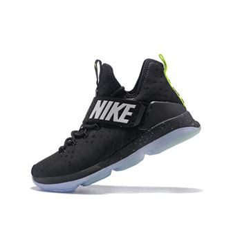 Nike LeBron 14 Black/Fluorescent Green-White Men's Size Free Shipping