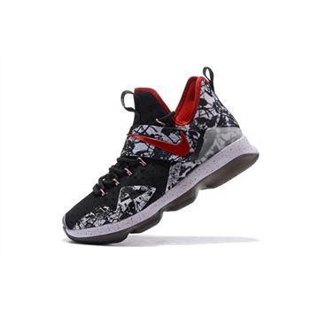 Nike LeBron 14 Graffiti Black White University Red