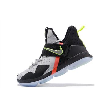 Nike LeBron 14 Out of Nowhere Wolf Grey Black Volt Bright Crimson
