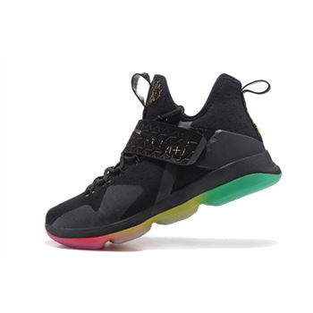 Nike LeBron 14 Rise and Shine Black Multi Color Mens Basketball Shoes