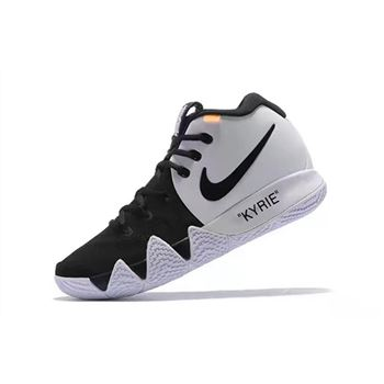 Off White x Nike Kyrie 4 Black White Mens Basketball Shoes