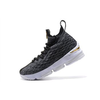 KITH x Nike LeBron 15 SVSM Dark Green Gold White Mens Basketball Shoes